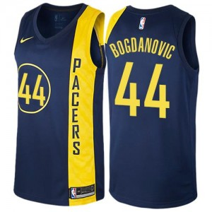 Nike NBA Maillots Bojan Bogdanovic Indiana Pacers Enfant City Edition bleu marine #44