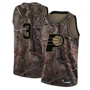 Maillots Basket Aaron Holiday Indiana Pacers Camouflage Nike Realtree Collection Homme #3