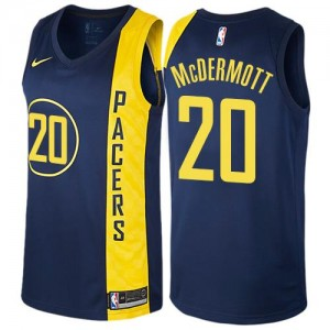 Nike Maillot Basket McDermott Pacers City Edition bleu marine Homme #20