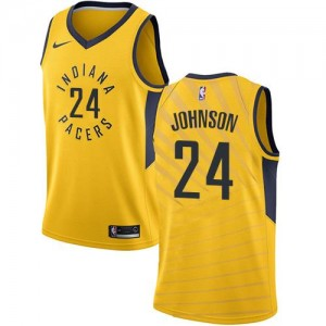 Maillot Basket Alize Johnson Pacers Statement Edition Nike #24 Homme or