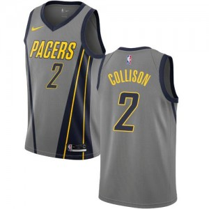 Nike Maillot De Darren Collison Indiana Pacers Gris City Edition No.2 Enfant