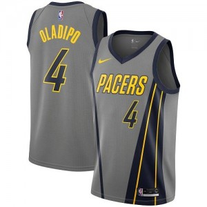Nike NBA Maillots Victor Oladipo Pacers No.4 City Edition Gris Enfant