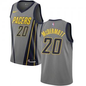 Maillots De McDermott Pacers Gris Nike No.20 City Edition Homme