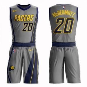 Nike Maillots De Basket McDermott Indiana Pacers #20 Suit City Edition Gris Homme