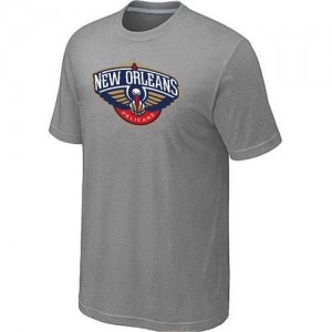 T-Shirt New Orleans Pelicans Homme Big & Tall Primary Logo Gris