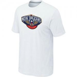 NBA T-Shirt De Basket Pelicans Blanc Big & Tall Primary Logo Homme