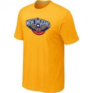 T-Shirt De Basket New Orleans Pelicans Big & Tall Primary Logo Homme Jaune