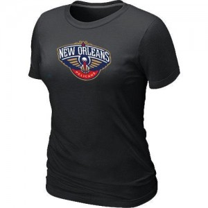 Tee-Shirt De Pelicans Femme Noir Big & Tall Primary Logo