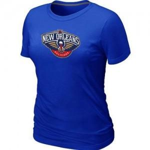 Tee-Shirt De Basket Pelicans Femme Bleu Big & Tall Primary Logo