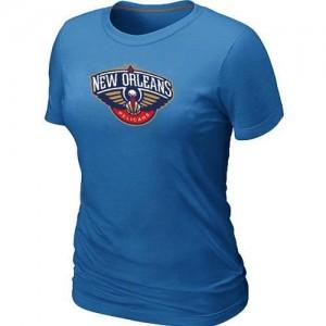 T-Shirt Basket Pelicans Femme Bleu clair Big & Tall Primary Logo