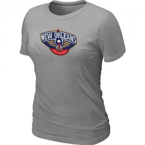 Tee-Shirt De New Orleans Pelicans Big & Tall Primary Logo Gris Femme