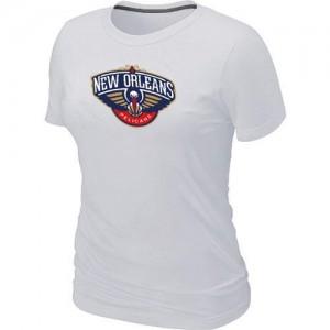 NBA Tee-Shirt De Pelicans Blanc Big & Tall Primary Logo Femme