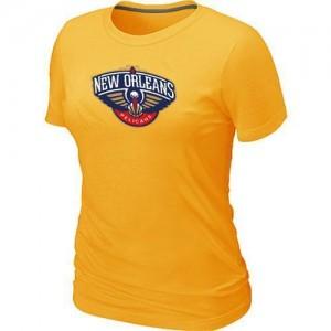 NBA Tee-Shirt De Basket Pelicans Jaune Femme Big & Tall Primary Logo