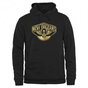 NBA Hoodie New Orleans Pelicans Gold Collection Pullover Homme Noir