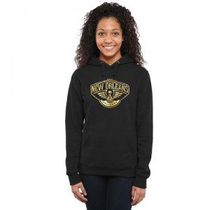 NBA Sweat à capuche De Pelicans Noir Femme Gold Collection Ladies Pullover