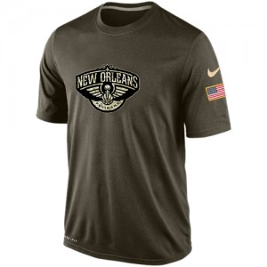 Nike NBA Tee-Shirt Basket Pelicans Olive Salute To Service KO Performance Dri-FIT Homme