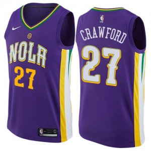 Nike NBA Maillot Basket Jordan Crawford New Orleans Pelicans City Edition Violet Enfant #27