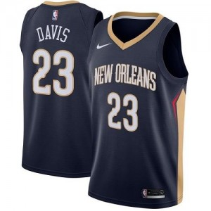 Nike NBA Maillots De Anthony Davis New Orleans Pelicans Homme Icon Edition No.23 bleu marine