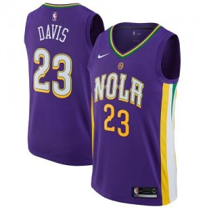 Maillots Basket Anthony Davis Pelicans Nike City Edition No.23 Violet Enfant
