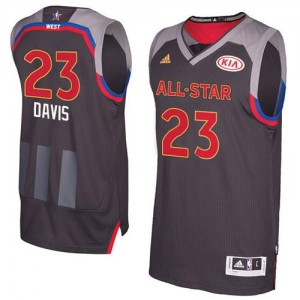 Adidas Maillot Basket Anthony Davis New Orleans Pelicans Homme 2017 All Star #23 Noir de carbone