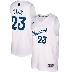 Adidas Maillot Davis New Orleans Pelicans #23 2016-2017 Christmas Day Homme Blanc