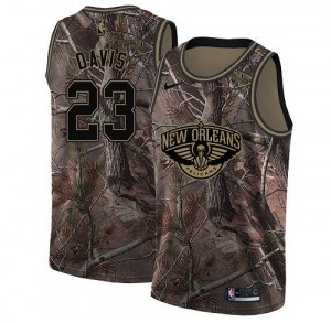 Maillots Basket Anthony Davis Pelicans Enfant No.23 Realtree Collection Camouflage Nike