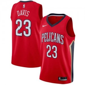 Nike Maillots Basket Davis Pelicans No.23 Enfant Rouge Statement Edition