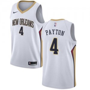 Maillot Basket Payton New Orleans Pelicans Association Edition No.4 Homme Nike Blanc