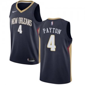 Nike NBA Maillots Payton New Orleans Pelicans bleu marine #4 Icon Edition Homme