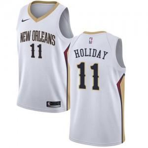 Maillot De Holiday Pelicans Enfant Association Edition Nike Blanc No.11