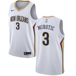 Maillot Basket Mirotic Pelicans No.3 Blanc Enfant Nike Association Edition