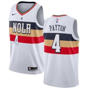 Nike Maillot Payton Pelicans Earned Edition #4 Enfant Blanc