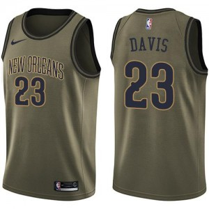 Maillots Anthony Davis Pelicans Salute to Service vert Enfant Nike No.23