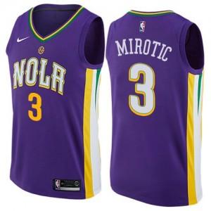 Maillots De Basket Nikola Mirotic Pelicans Enfant Nike #3 City Edition Violet