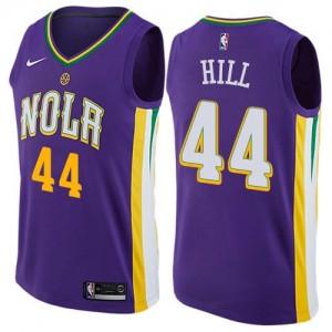 Nike Maillots De Basket Solomon Hill New Orleans Pelicans Violet Enfant City Edition No.44