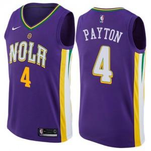 Nike Maillot De Basket Elfrid Payton New Orleans Pelicans Homme City Edition Violet #4