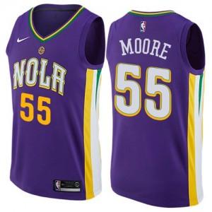 Nike Maillots De Basket E'Twaun Moore New Orleans Pelicans City Edition #55 Violet Enfant