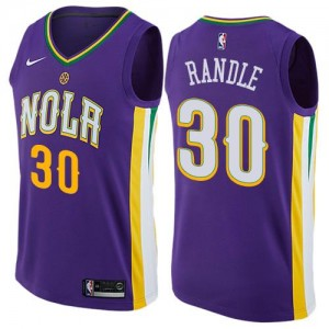 Nike NBA Maillots De Julius Randle New Orleans Pelicans #30 City Edition Violet Enfant