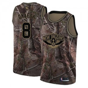 Nike NBA Maillots Basket Okafor Pelicans Camouflage No.8 Realtree Collection Enfant