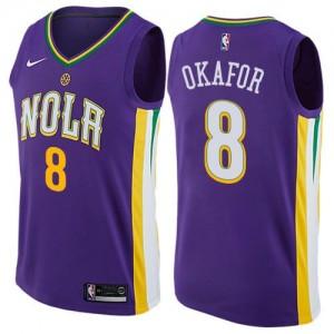 Maillot Basket Jahlil Okafor New Orleans Pelicans #8 City Edition Enfant Violet Nike