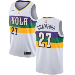 Nike Maillot Basket Jordan Crawford New Orleans Pelicans Blanc #27 Enfant City Edition