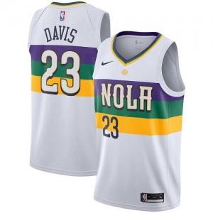 Maillots Basket Davis Pelicans Homme City Edition Nike Blanc #23