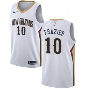 Nike Maillot De Basket Tim Frazier Pelicans Association Edition #10 Blanc Enfant