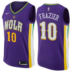 Nike NBA Maillot De Frazier New Orleans Pelicans Enfant City Edition Violet No.10