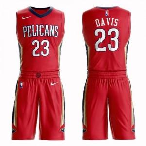 Nike Maillot Davis Pelicans Rouge #23 Homme Suit Statement Edition