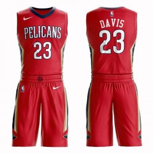 Maillots Anthony Davis Pelicans Rouge Nike Enfant Suit Statement Edition #23