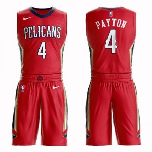 Nike Maillots Basket Payton New Orleans Pelicans Rouge No.4 Homme Suit Statement Edition