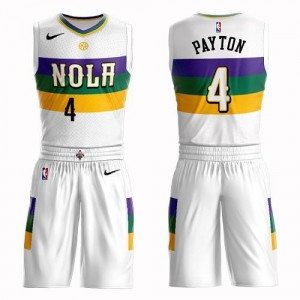 Nike NBA Maillots Payton New Orleans Pelicans Homme Blanc #4 Suit City Edition