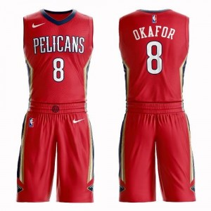 Nike Maillots Okafor Pelicans Rouge Suit Statement Edition #8 Homme
