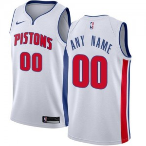 Nike NBA Maillot Personnalise De Basket Detroit Pistons Association Edition Blanc Homme